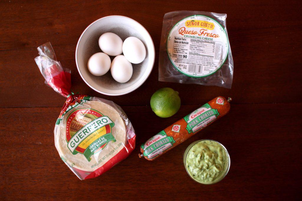 Chorizo Breakfast Tacos Recipe