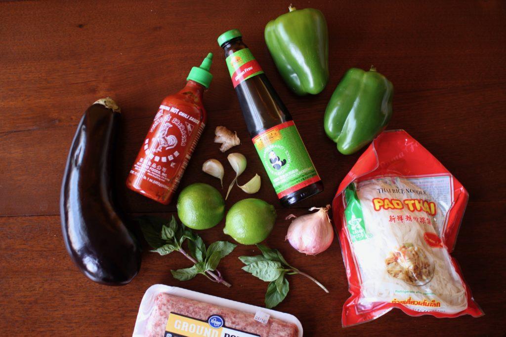 Eggplant Basil Noodles Recipe