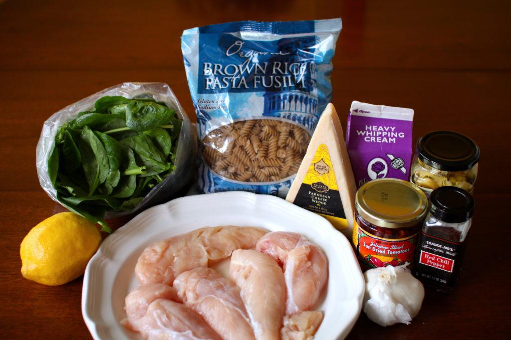 Tuscan Chicken Pasta Ingredients