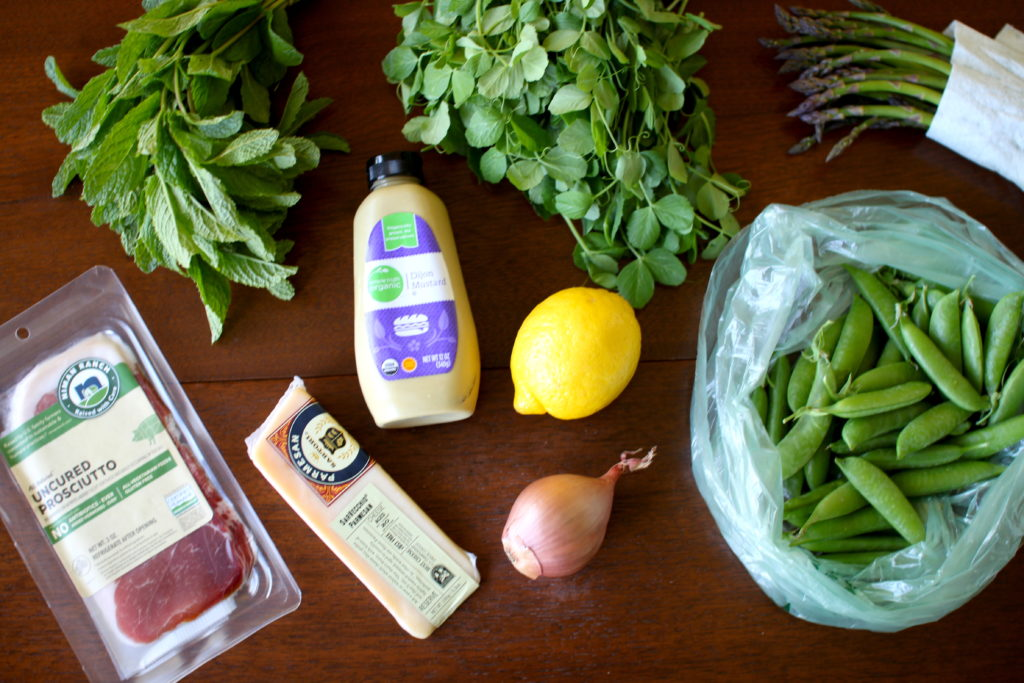 Prosciutto Pea Salad Ingredients