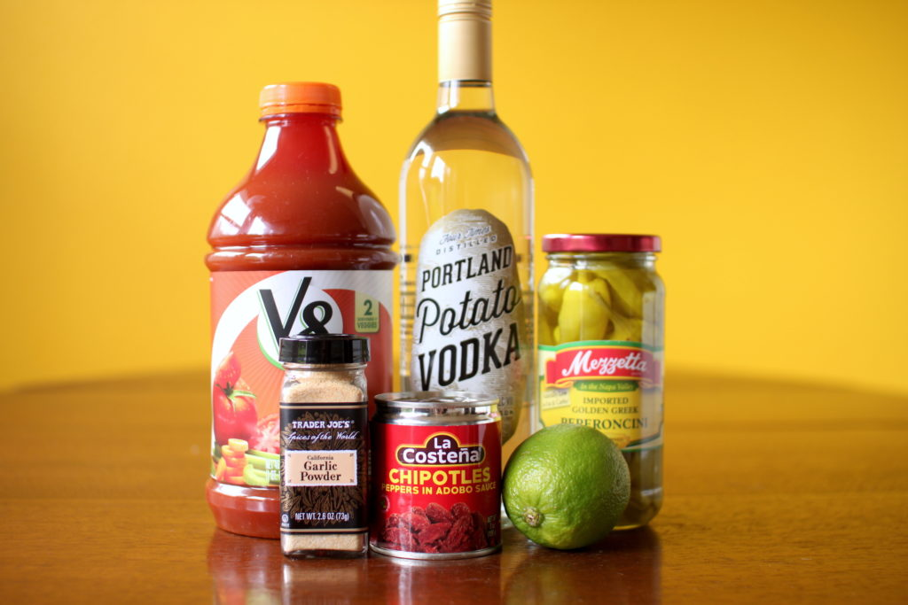 Chipotle Bloody Mary ingredients