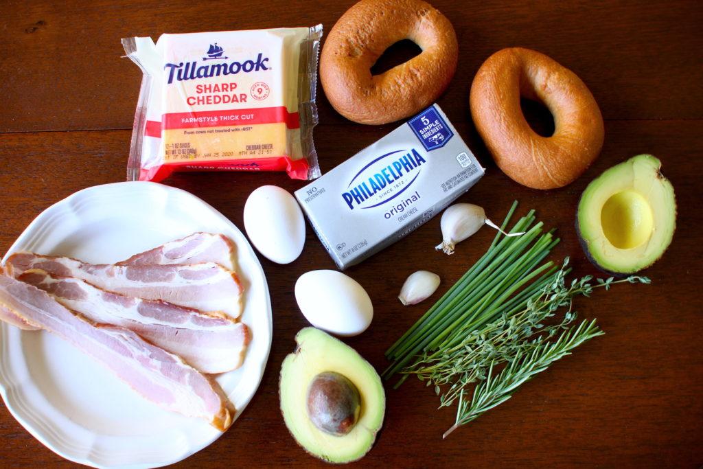 Breakfast Bagel Ingredients