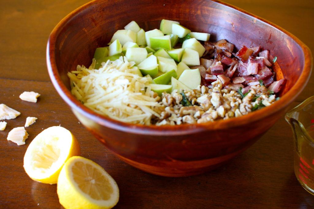 Bacon Apple Kale Salad