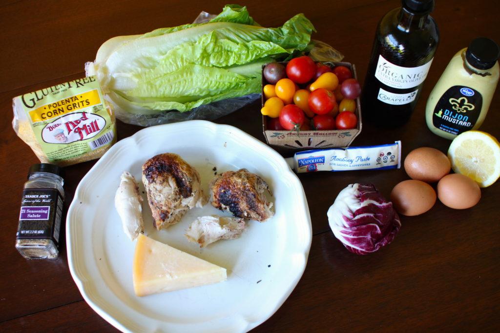 Chicken Caesar Salad ingredients