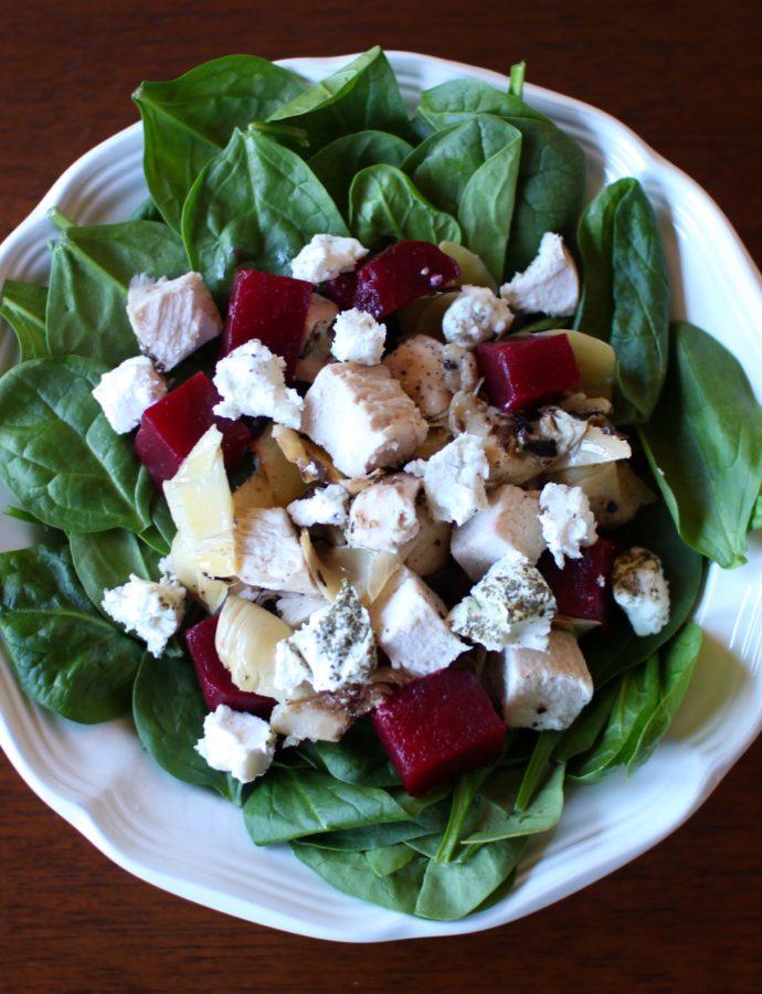 ABC Salad: Artichokes, Beets and Chèvre