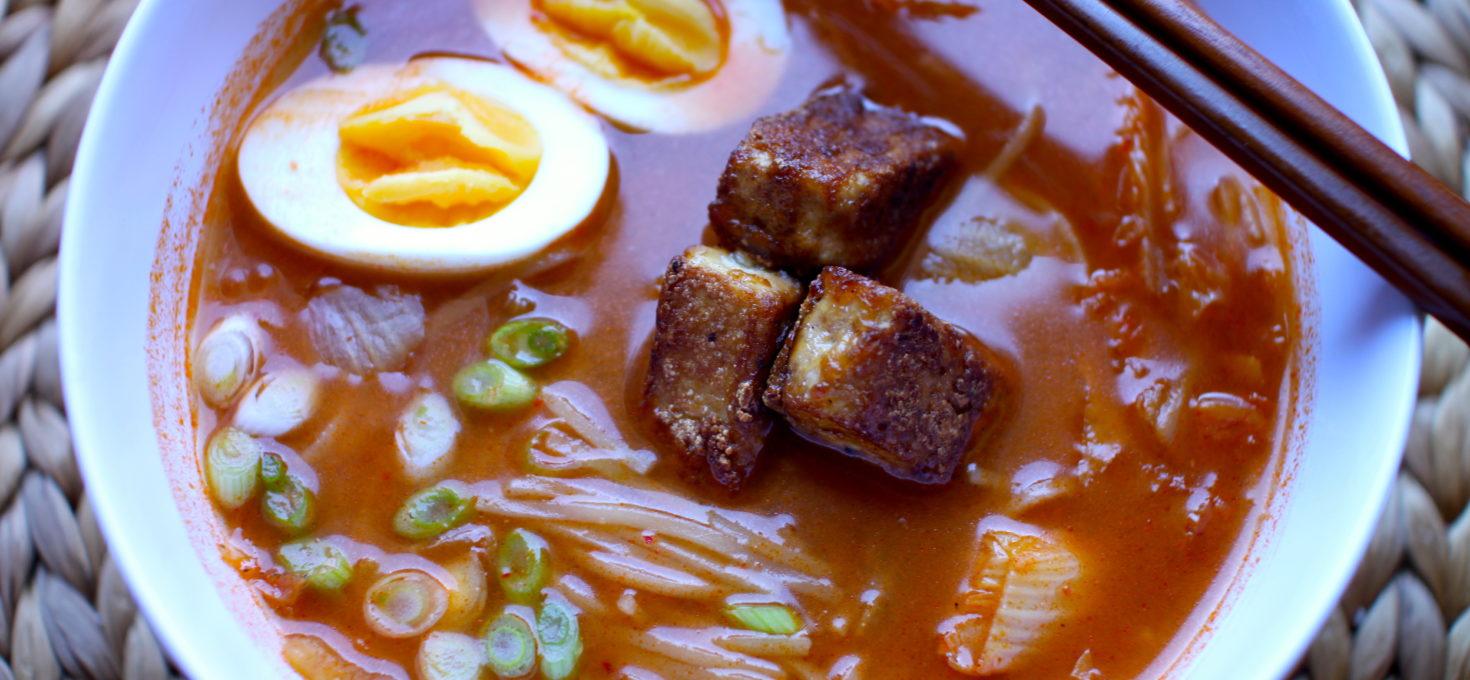 Spicy Kimchi Noodle Soup