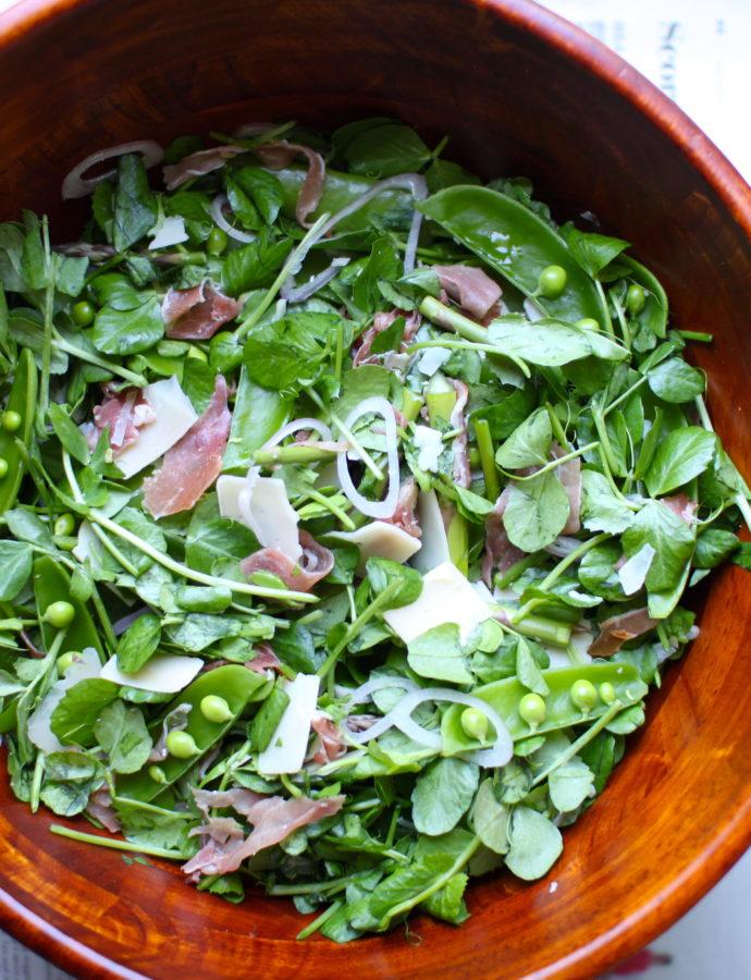 Prosciutto Pea Salad