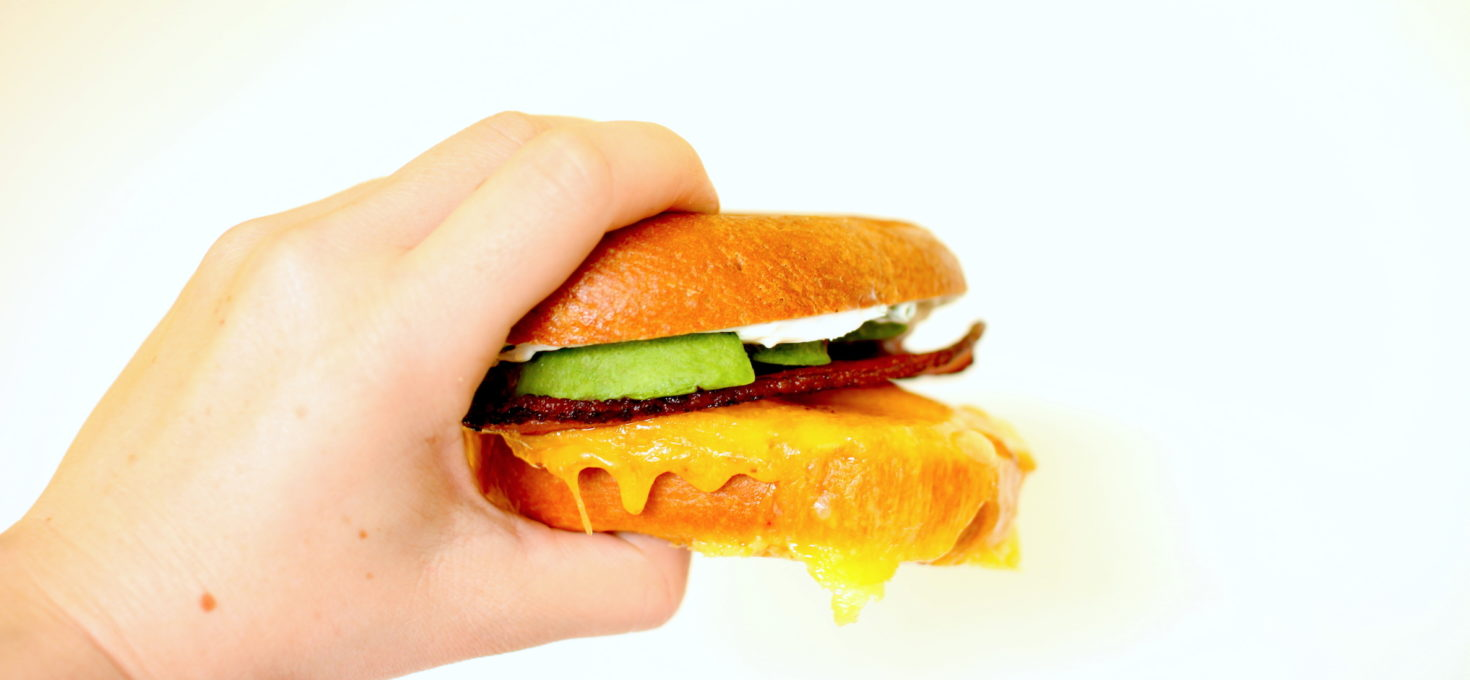 Breakfast Bagel Sandwiches with Herbed Cream Cheese