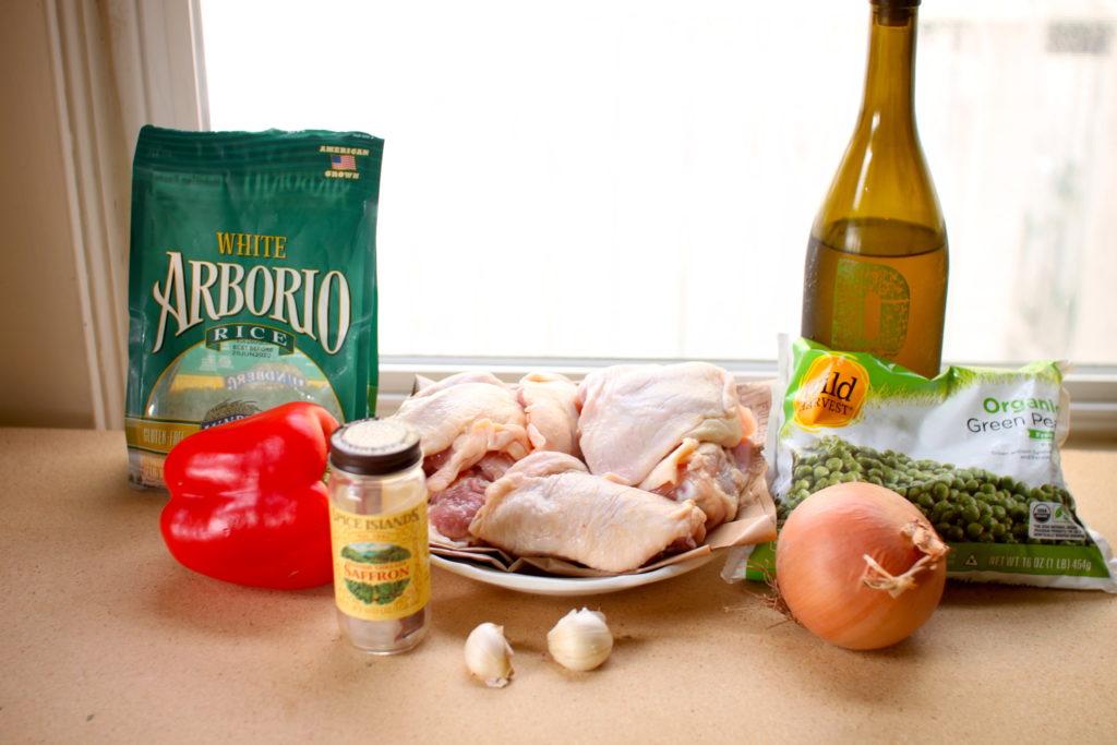 Saffron Chicken and Rice ingredients