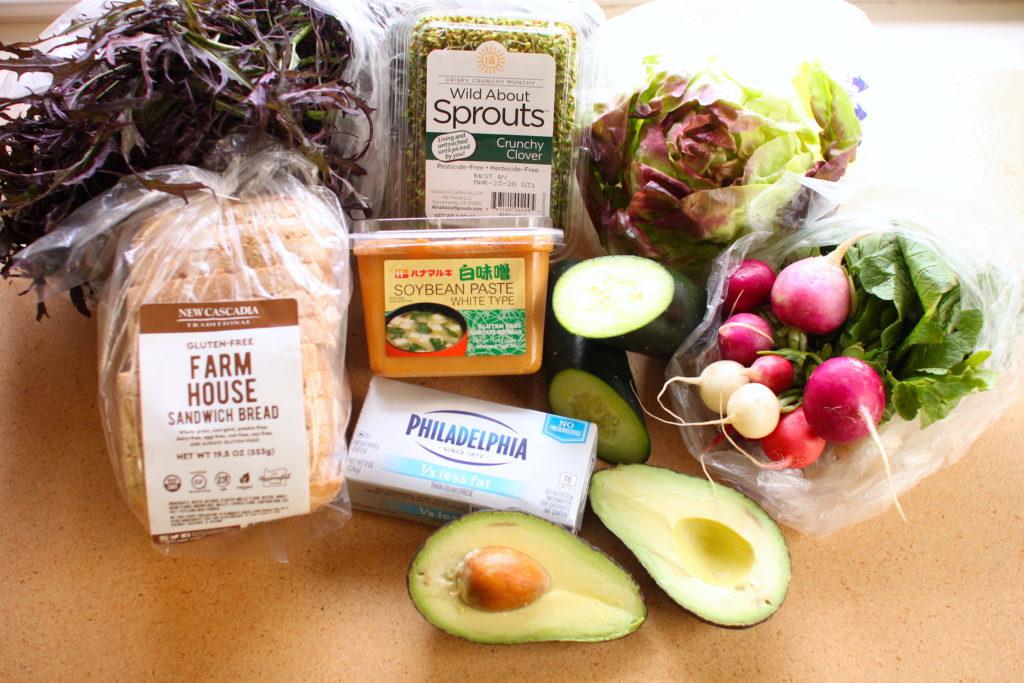 veggie sandwich ingredients