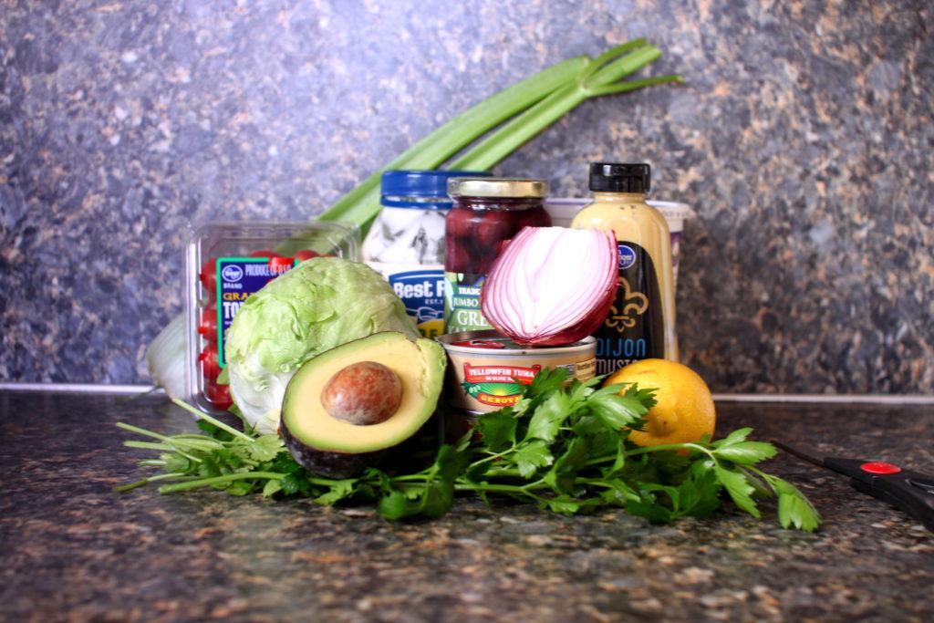 Rainbow Tuna Salad ingredients