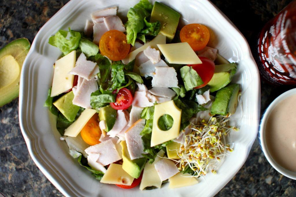 Turkey and Swiss Salad