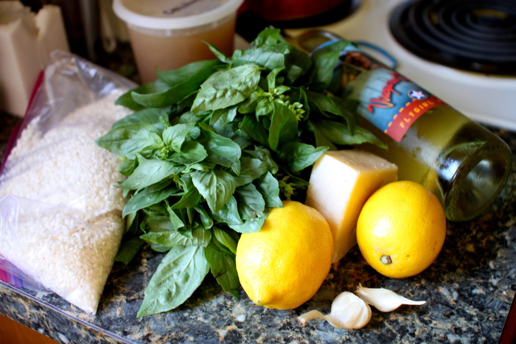 Lemon Basil Risotto ingredients