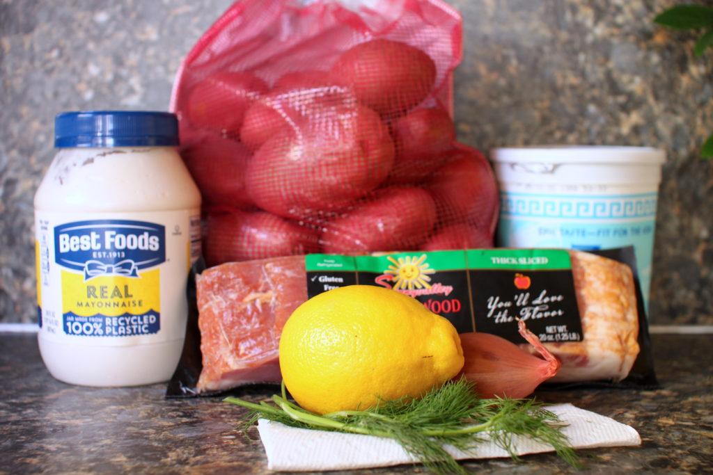 Bacon Shallot Potato Salad Ingredients