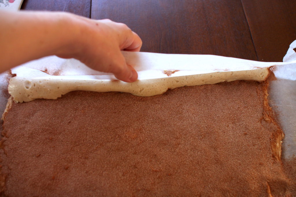 How to roll gluten-free cinnamon roll dough