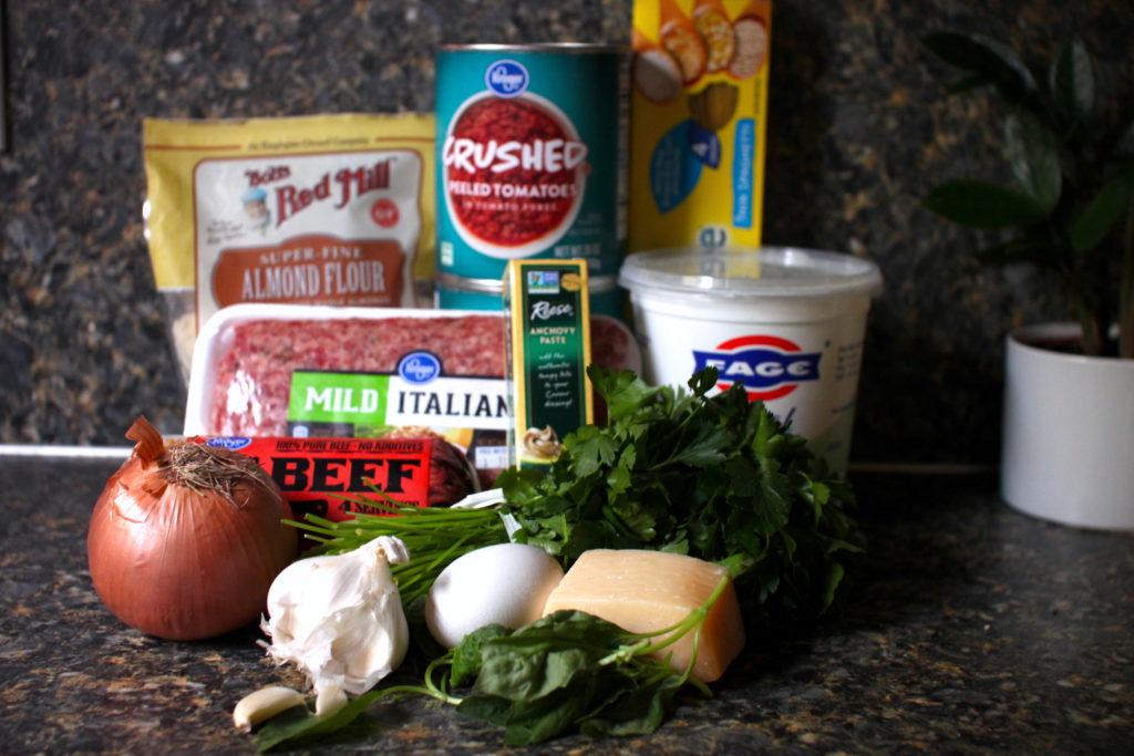Gluten-Free Meatballs and Spaghetti ingredients