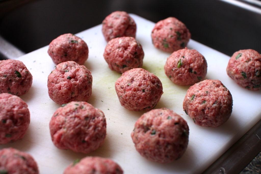 Gluten-Free Meatballs raw