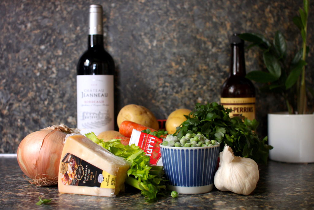 Photo of cottage pie ingredients