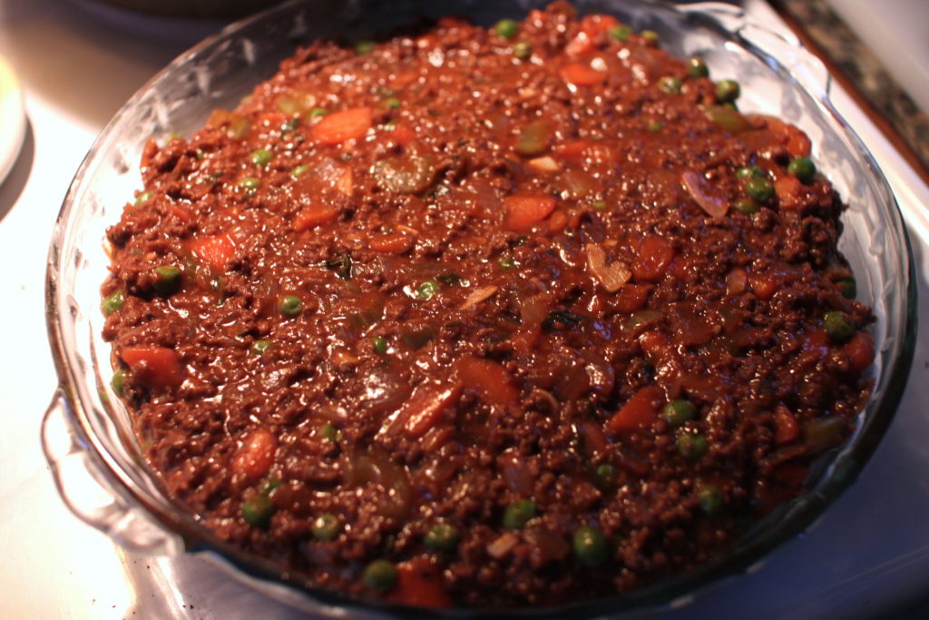 Photo of cottage pie filling