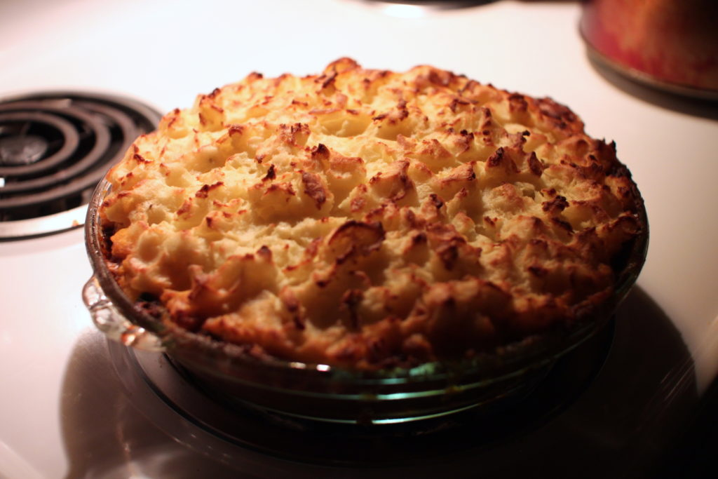 Photo of cooked cottage pie